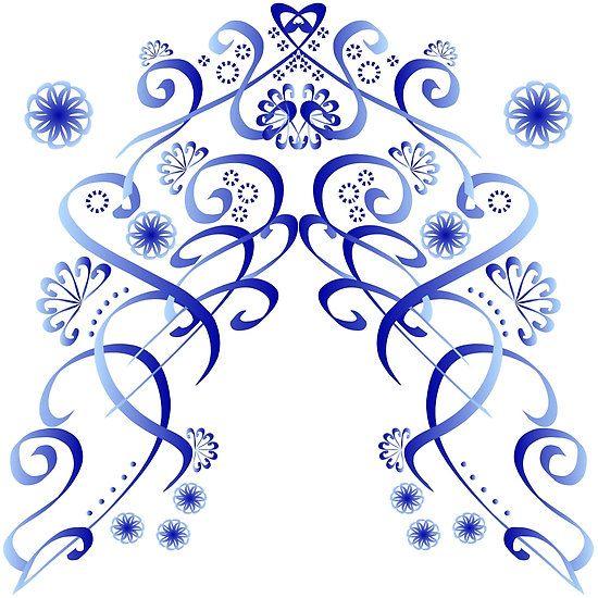 """""""Floral blue"""" Design by Das Fräulein im Stall"""