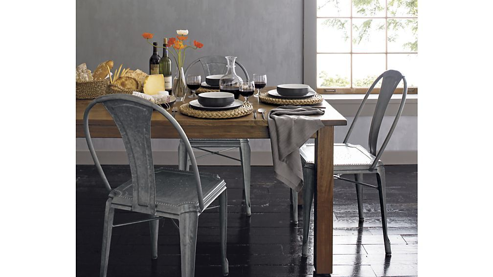 Lyle Metal Dining Chair Reviews Crate And Barrel Dining Table In Kitchen Dining Chairs Metal Dining Chairs