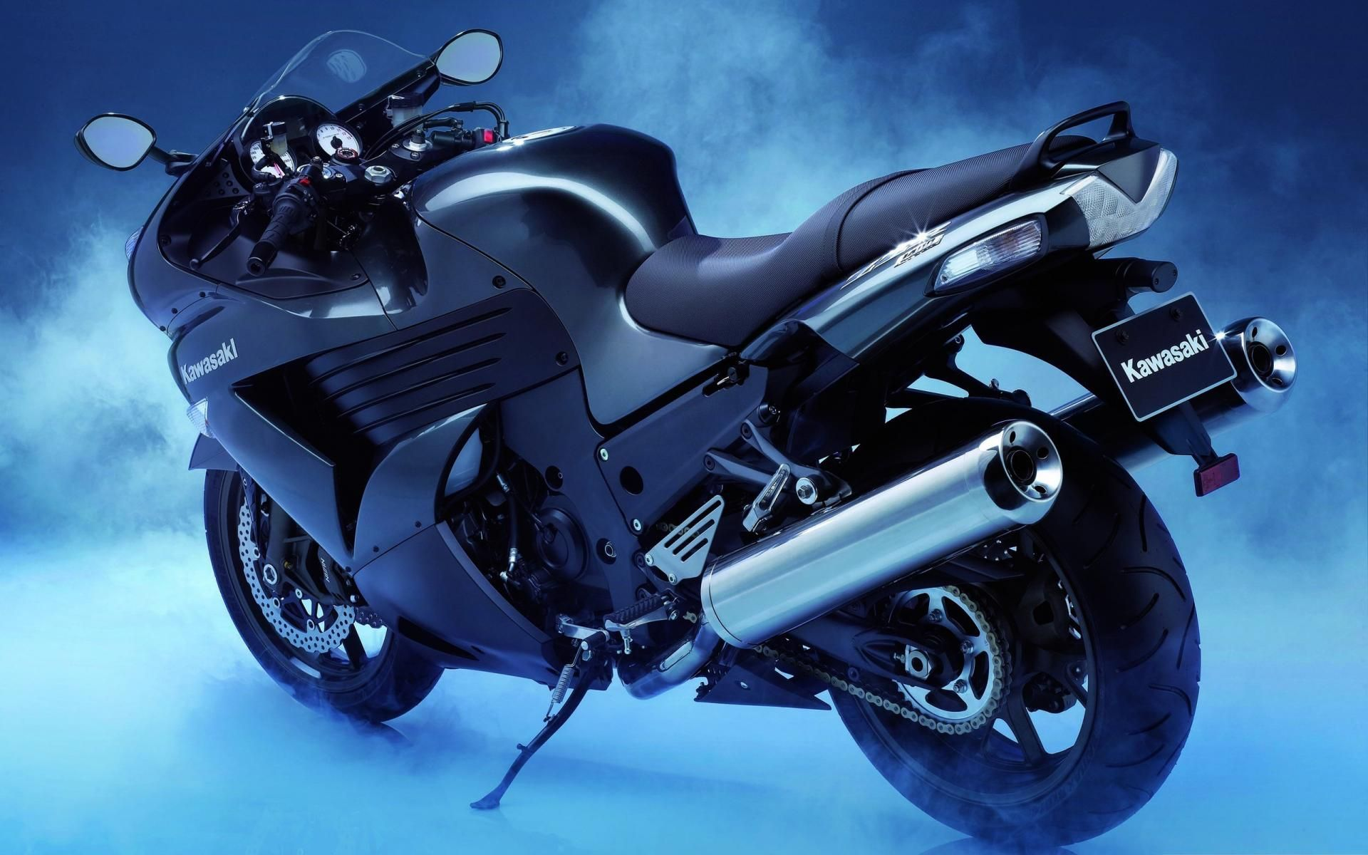 Black Kawasaki Bike Hd Wallpaper Kawasaki Bikes Kawasaki