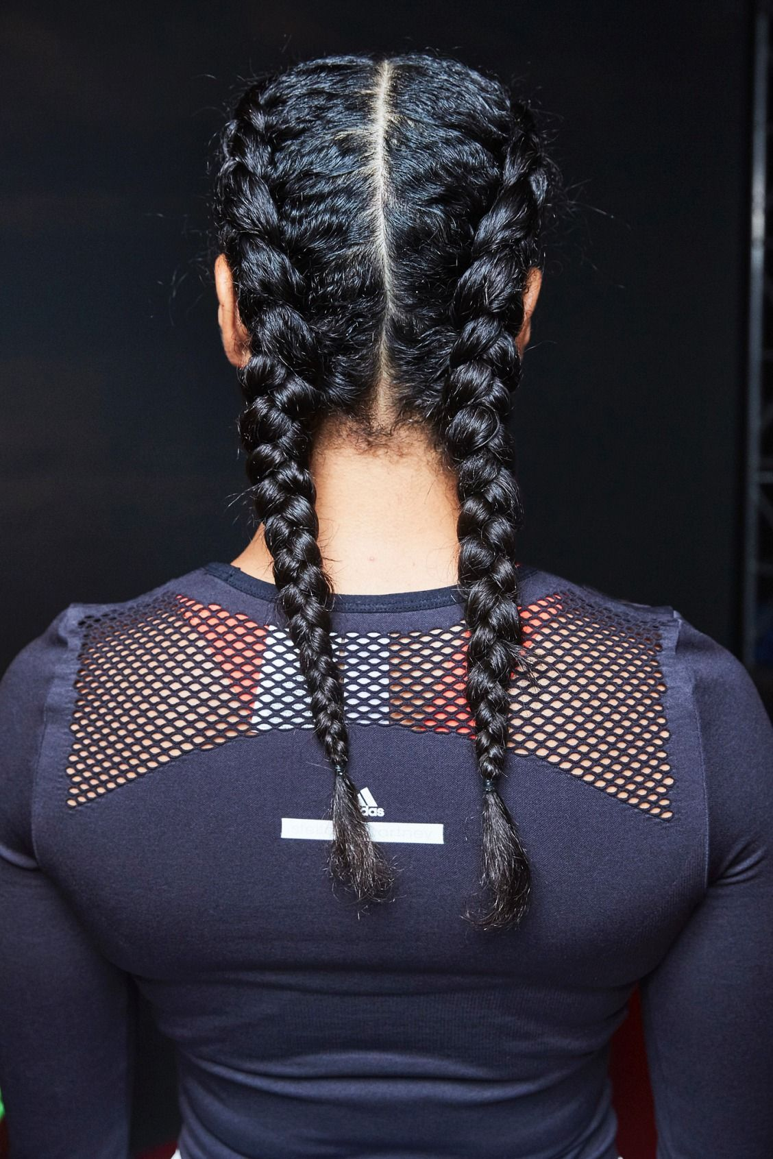 Go backstage with aveda to learn how to create these sporty parallel