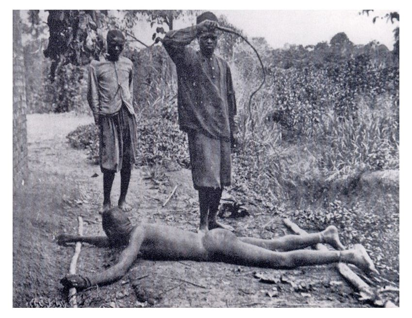 With the so-called chicotte the Congolese were brutally punished in the Congo under colonial power