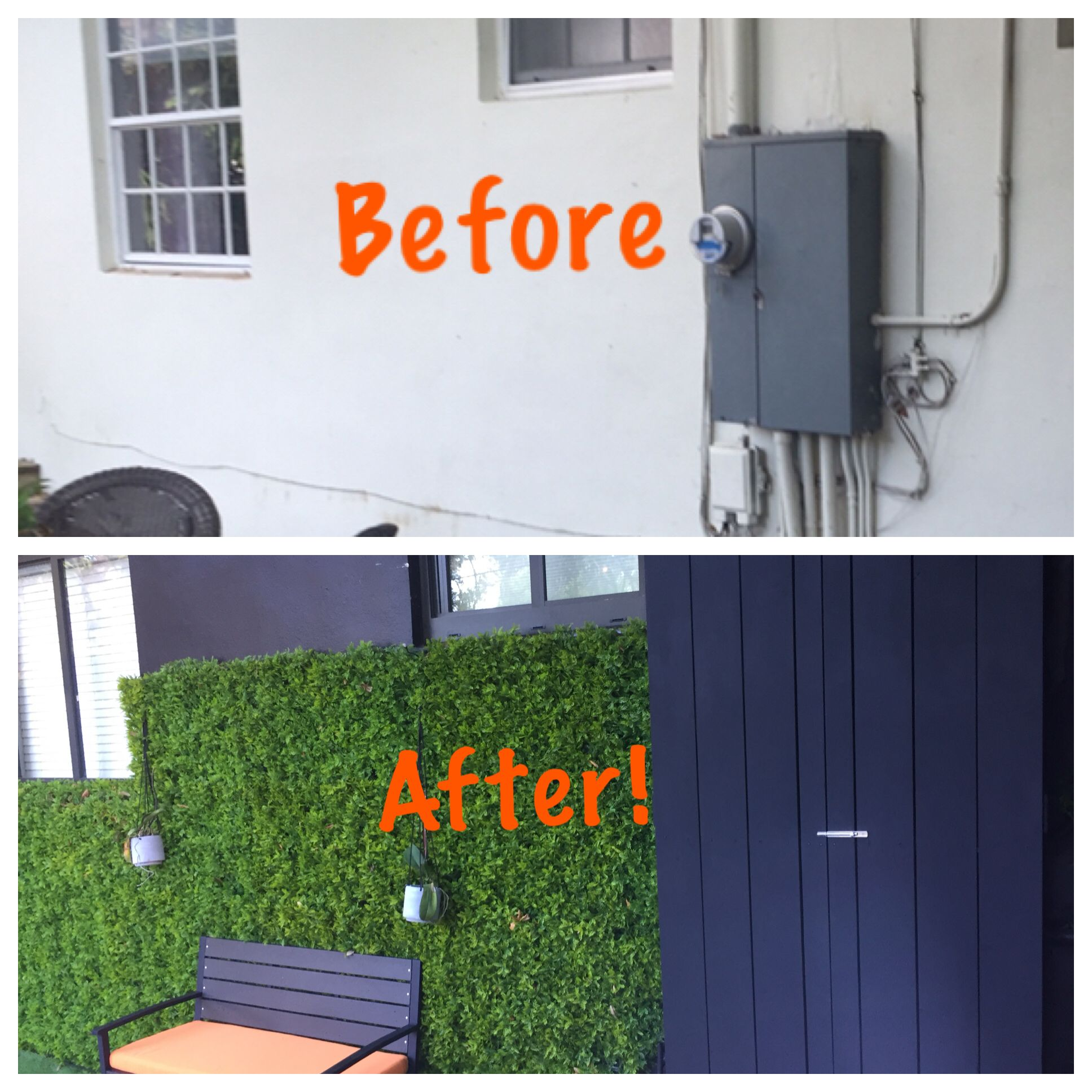 Hide The Outside Electrical Box And Wires Hide Electrical Panel Outdoor Electrical Wire Hidden House
