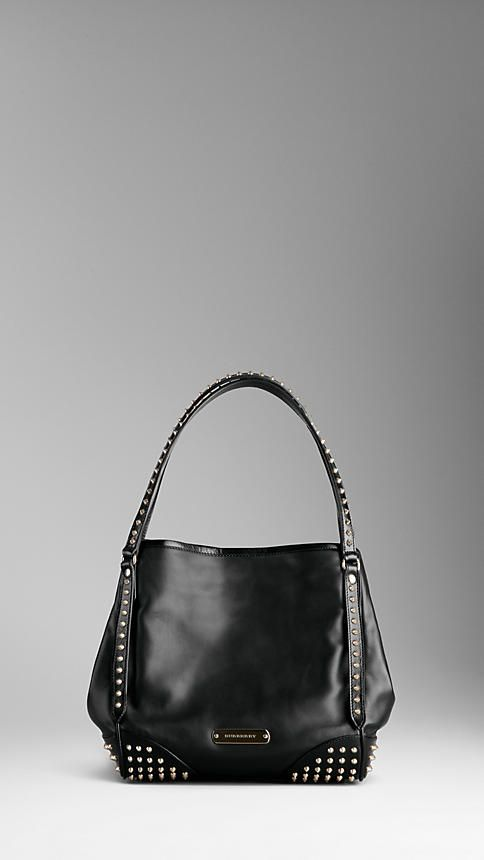 38e092fb492 Burberry SMALL BRIDLE LEATHER STUDDED TOTE BAG | Fashion Is The Only ...