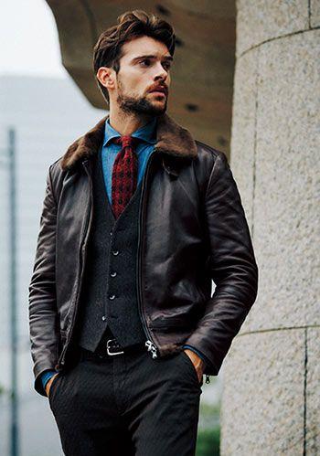 【40代の秋冬】G1ジャケット×ジレの着こなし(メンズ)   Italy Web
