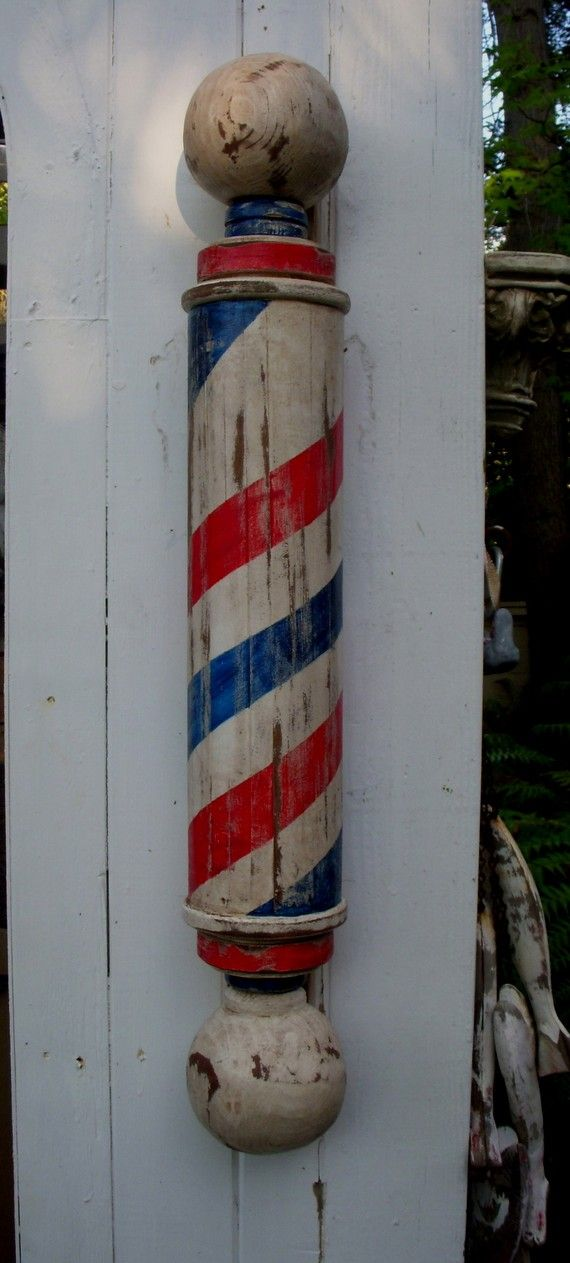 Mikes Original Barber Pole With Large Hand By Mikesbarberpoles 40000
