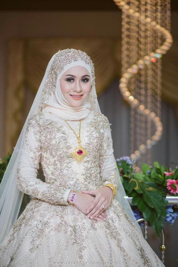 Thailand Muslim Wedding I Credit Photo Fb Rizal Hakimm Pengantin Wanita Pakaian Pernikahan Gaun Pengantin