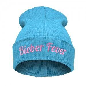 Bieber Fever Blekitna Czapka Beanie Krasnal Haft Beanie Fashion Hats