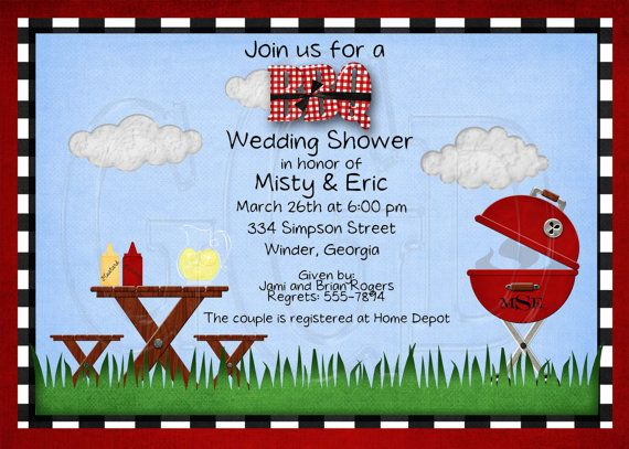 Bbq Shower Birthday Or Retirement Party By Graciegirldesigns