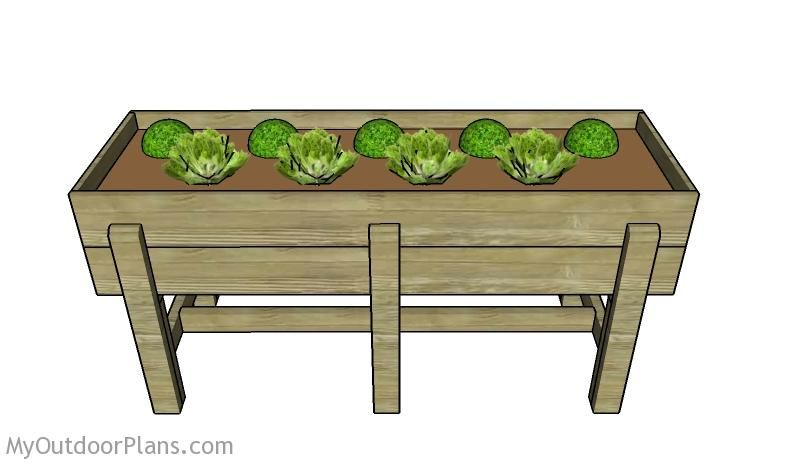 Waist High Planter Box Plans Decor Ideas Raised Garden