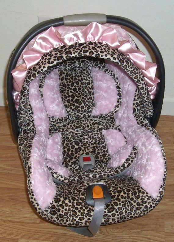 Fabulous Cheetah With Light Pink Minky Swirl Infant Replacement Car Pabps2019 Chair Design Images Pabps2019Com