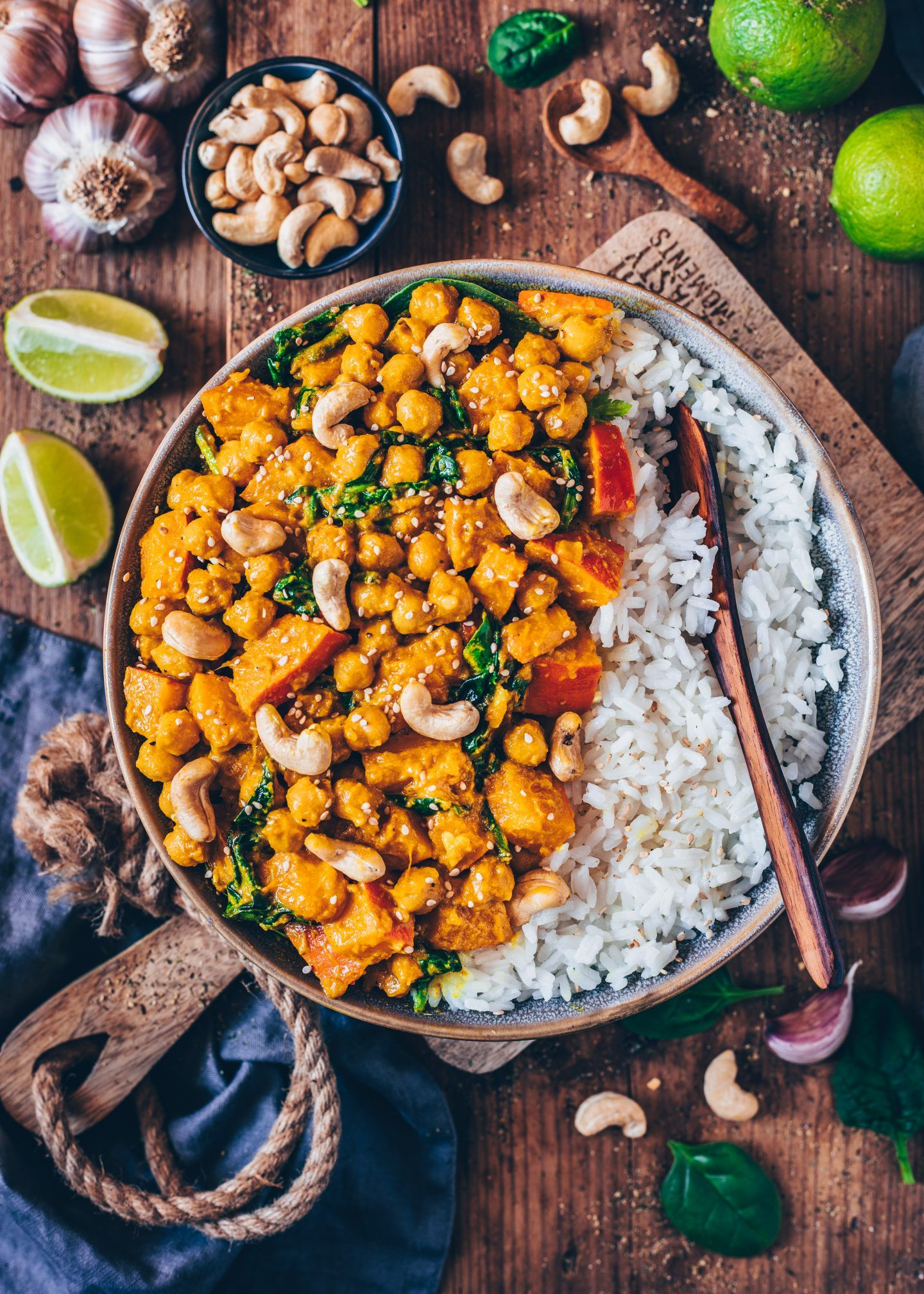 Pumpkin Chickpea Curry Vegan Easy Recipe Healthy Eats