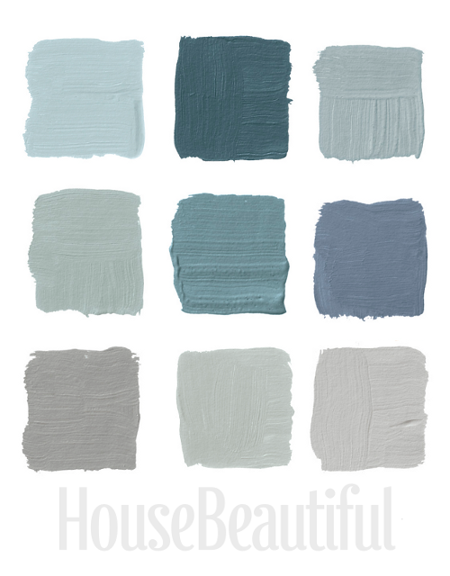 Blue gray paint on pinterest blue gray bathrooms for Blue gray paint palette
