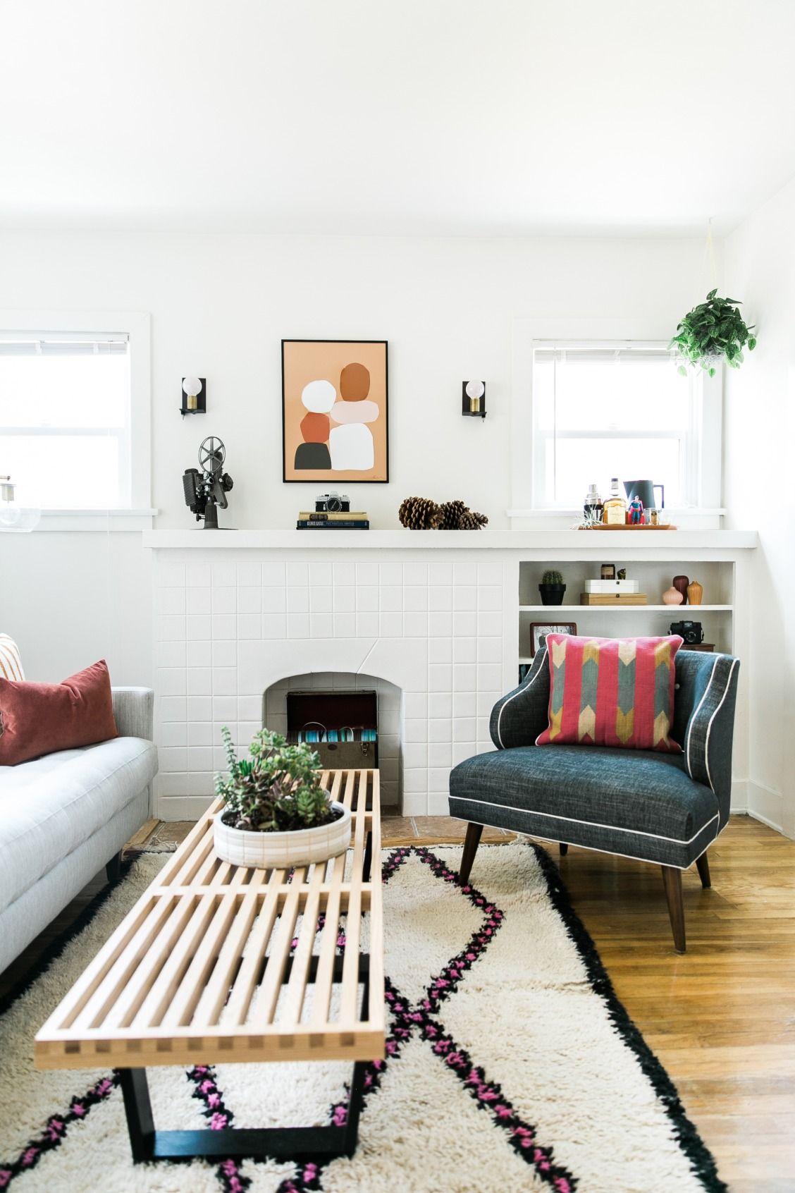 midcentury living room makeover - the unbachelor bachelor pad ...