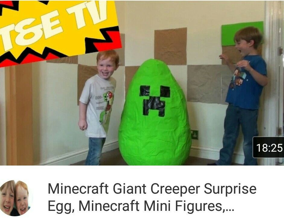 Thomas and elliotts minecraft giant surprise egg opening. What goodies are inside? Please like, share and forget to subscribe Https://youtu.be/LxemVm4MZSE