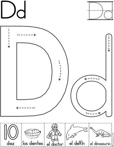 letra d fichas del abecedario y el alfabeto para descargar gratis ...