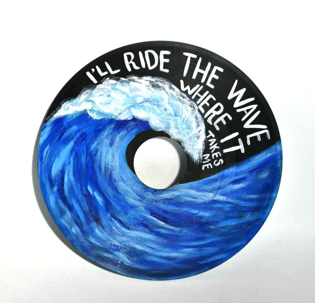 Pearl Jam Release Lyrics Painted On A Vinyl Record Vinyl Record Art Record Art Vinyl Art Paint