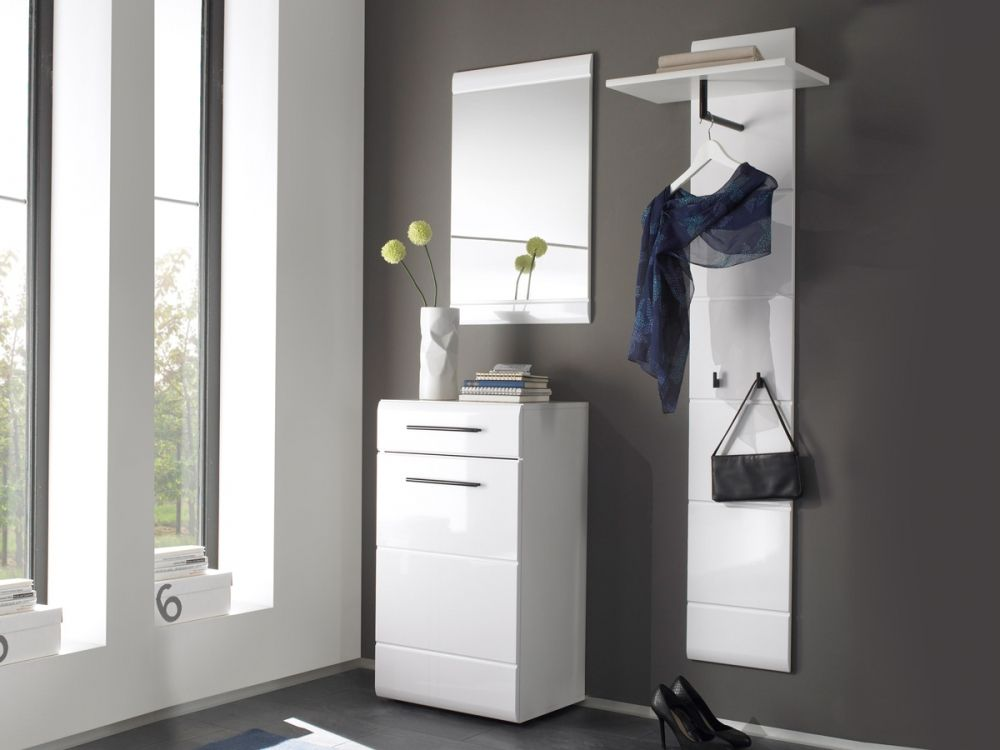 deon komplett garderobe 3 teilig eiche sonoma weiss. Black Bedroom Furniture Sets. Home Design Ideas