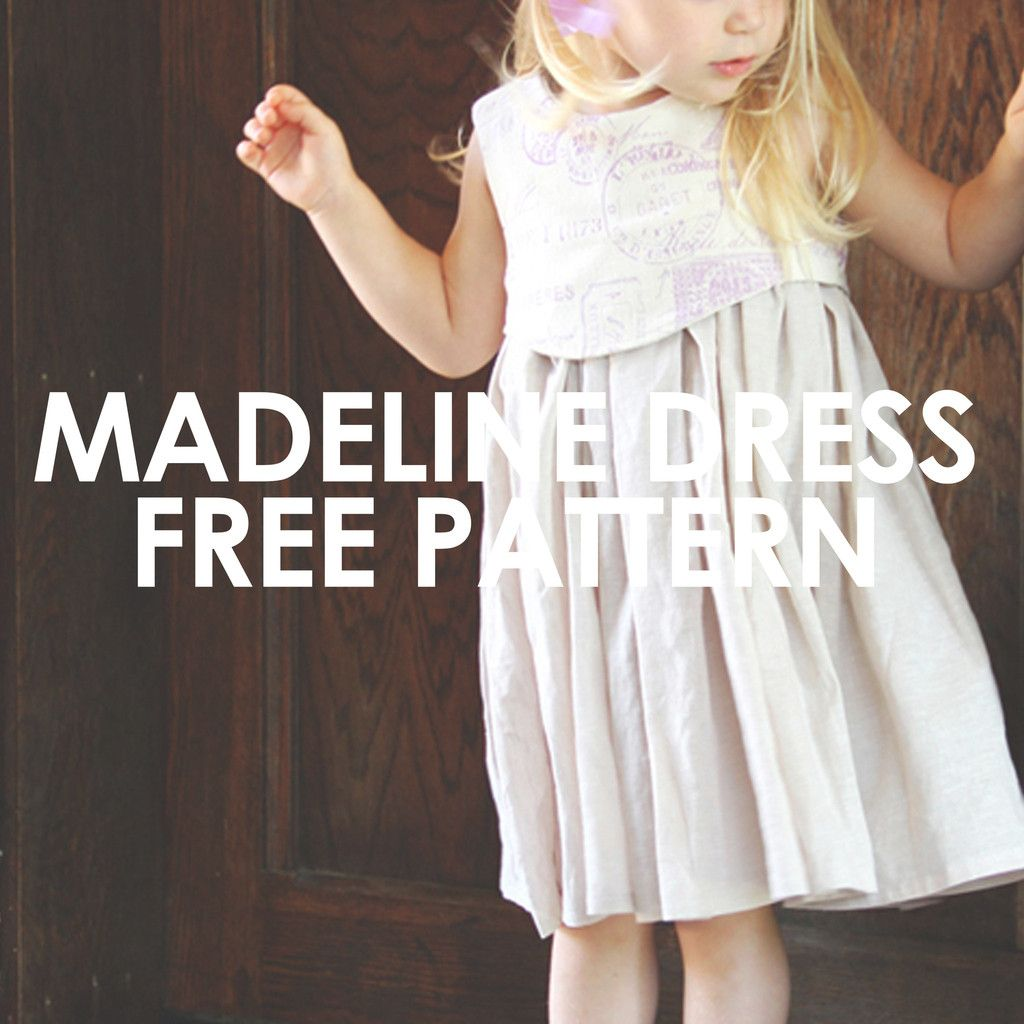 FREE pattern! This darling dress pattern has a unique layered bodice ...