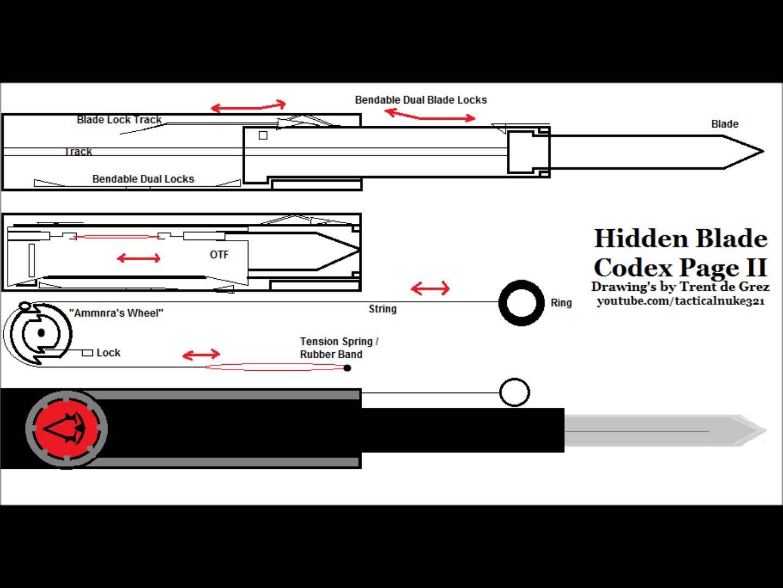 hight resolution of assassins creed hidden blade plans google search