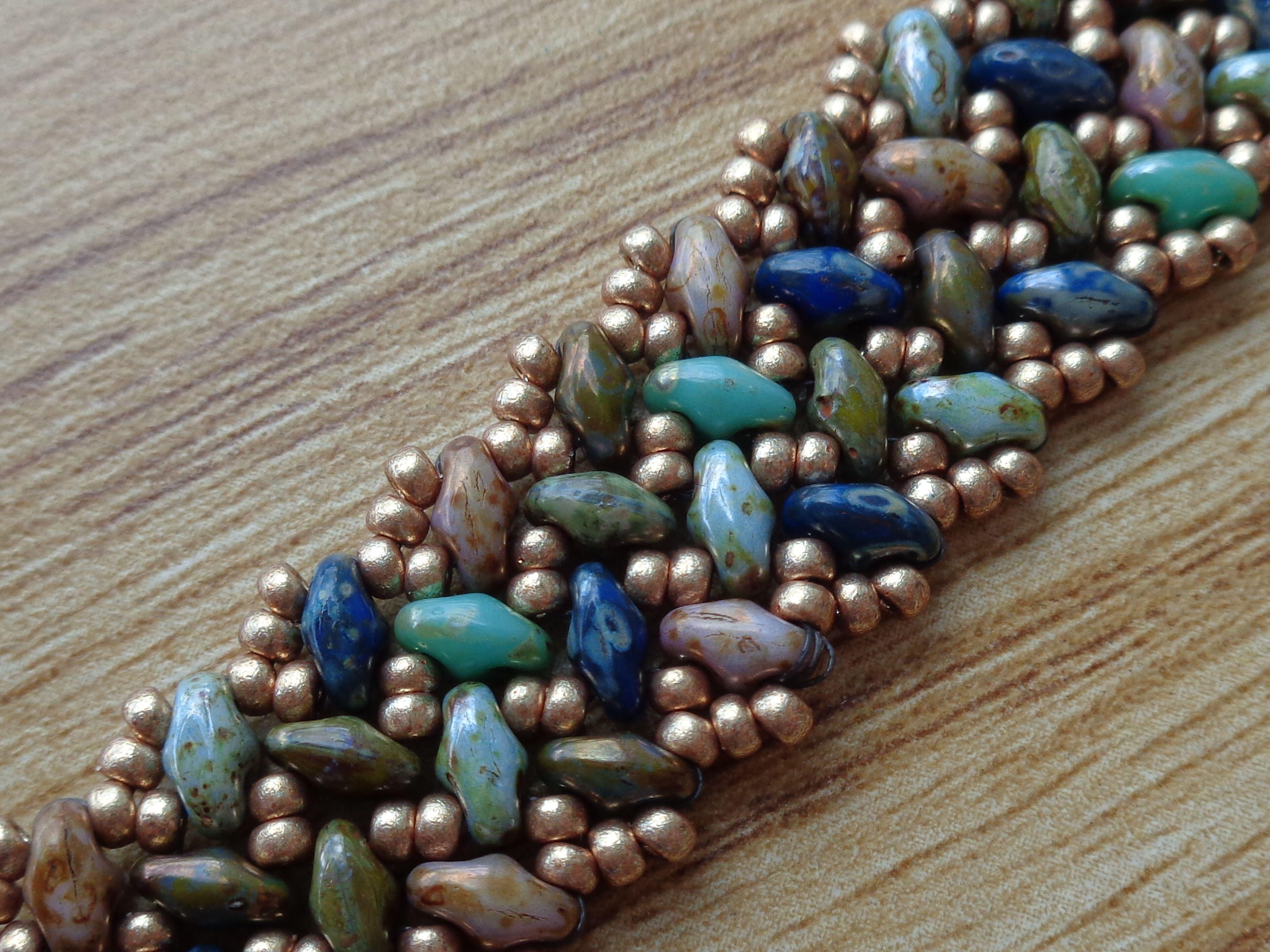 Tweaked version of superduo knit herringbone bracelet jewellery tweaked version of superduo knit herringbone bracelet jewelry patternsbracelet patternsbeading bankloansurffo Gallery