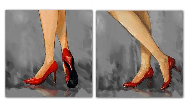 Zapatos 80x802 De Rojos Cuadro Tacon 7 CmCuadros MqUSzVp