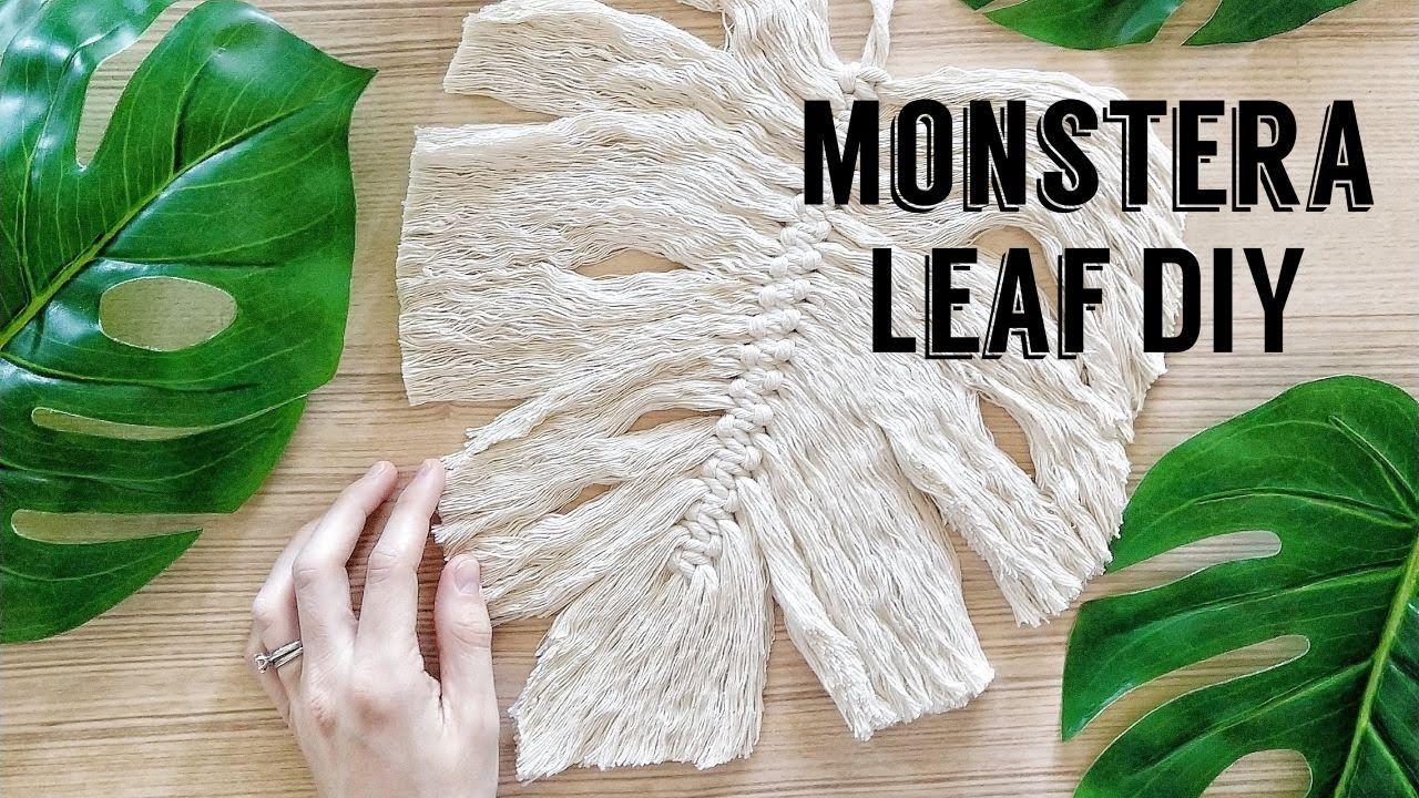 Macramé Monstera Leaf Tutorial // how to make macrame