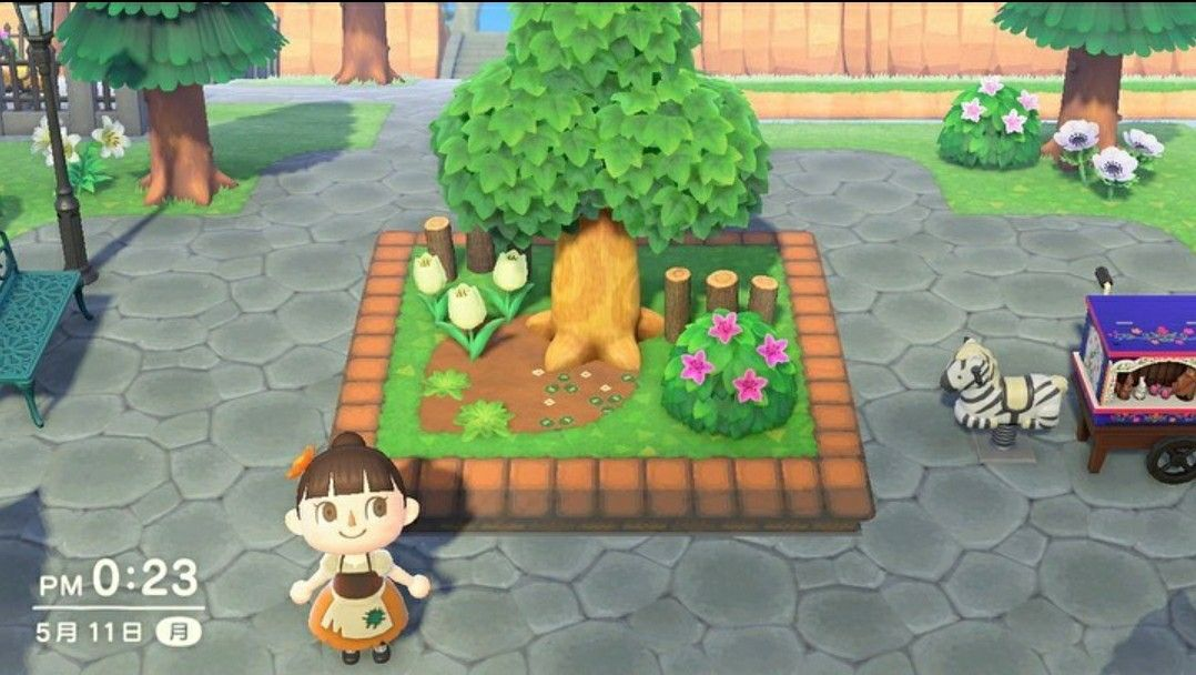 New Horizons Flower Bed Pattern in 2020 | Animal crossing ...