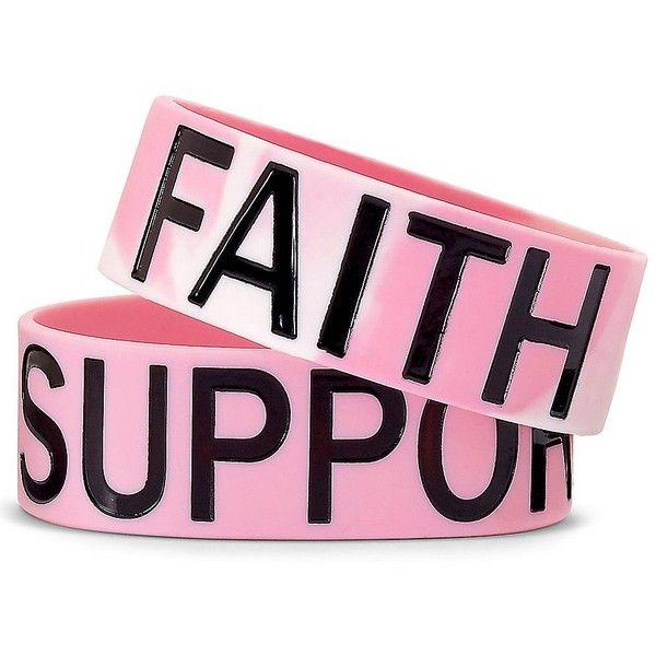 Y-ME Breast Cancer Awareness Bracelet ($4.99) ❤ liked on Polyvore
