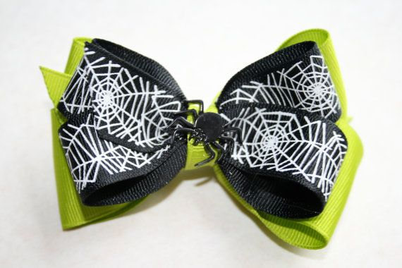 Halloween Spider Bow by MariasBowTique on Etsy, $4.75
