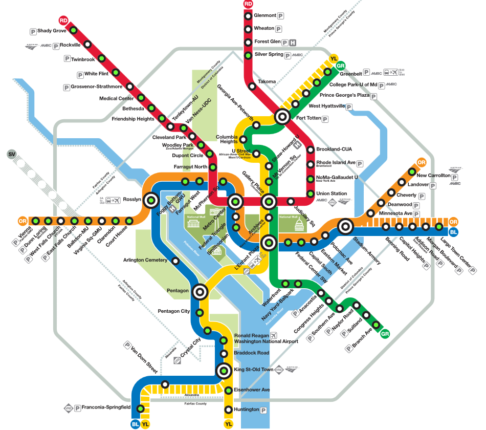 Hotels In Washington DC Near The Metro DC Pinterest - Washington dc map of government buildings