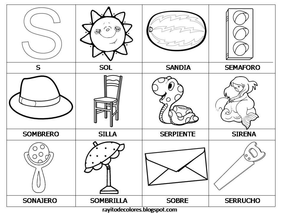 Tarjetas De Lectura Del Abecedario Ensenanza De Las Letras Actividades Con La Letra S Abecedario