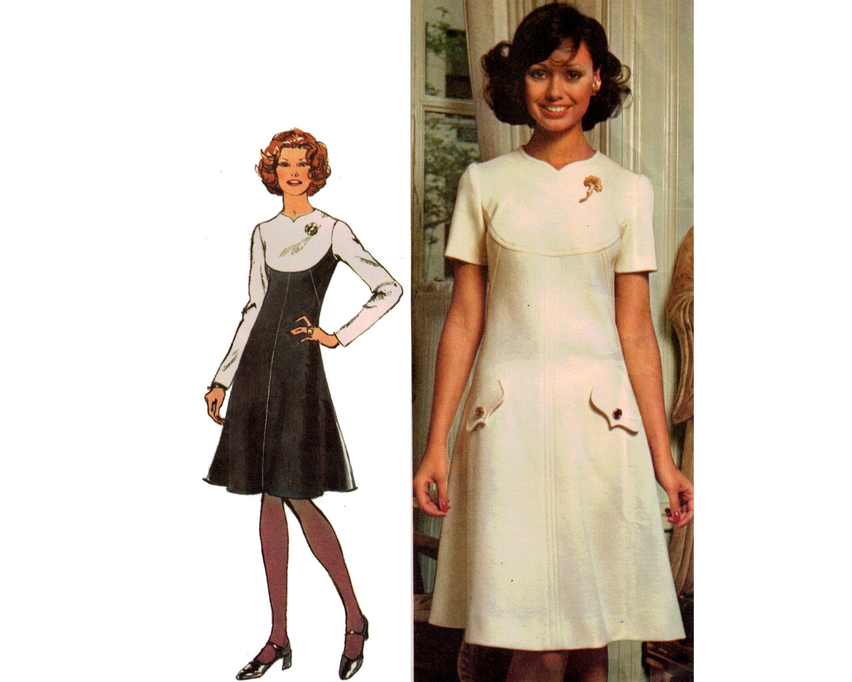Simplicity 5344 70s Summer Dresses Designer Knee Length Etsy Cocktail Party Dress Designer Party Dresses Short Sleeve Dresses [ 2400 x 3000 Pixel ]