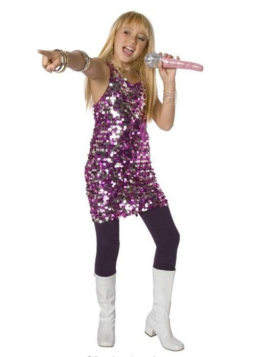 Hannah Montana Miley Cyrusu0027 pop-star alter ego was a top pick for tweens and teens in 2007.  sc 1 st  Pinterest : kids pop star costume  - Germanpascual.Com