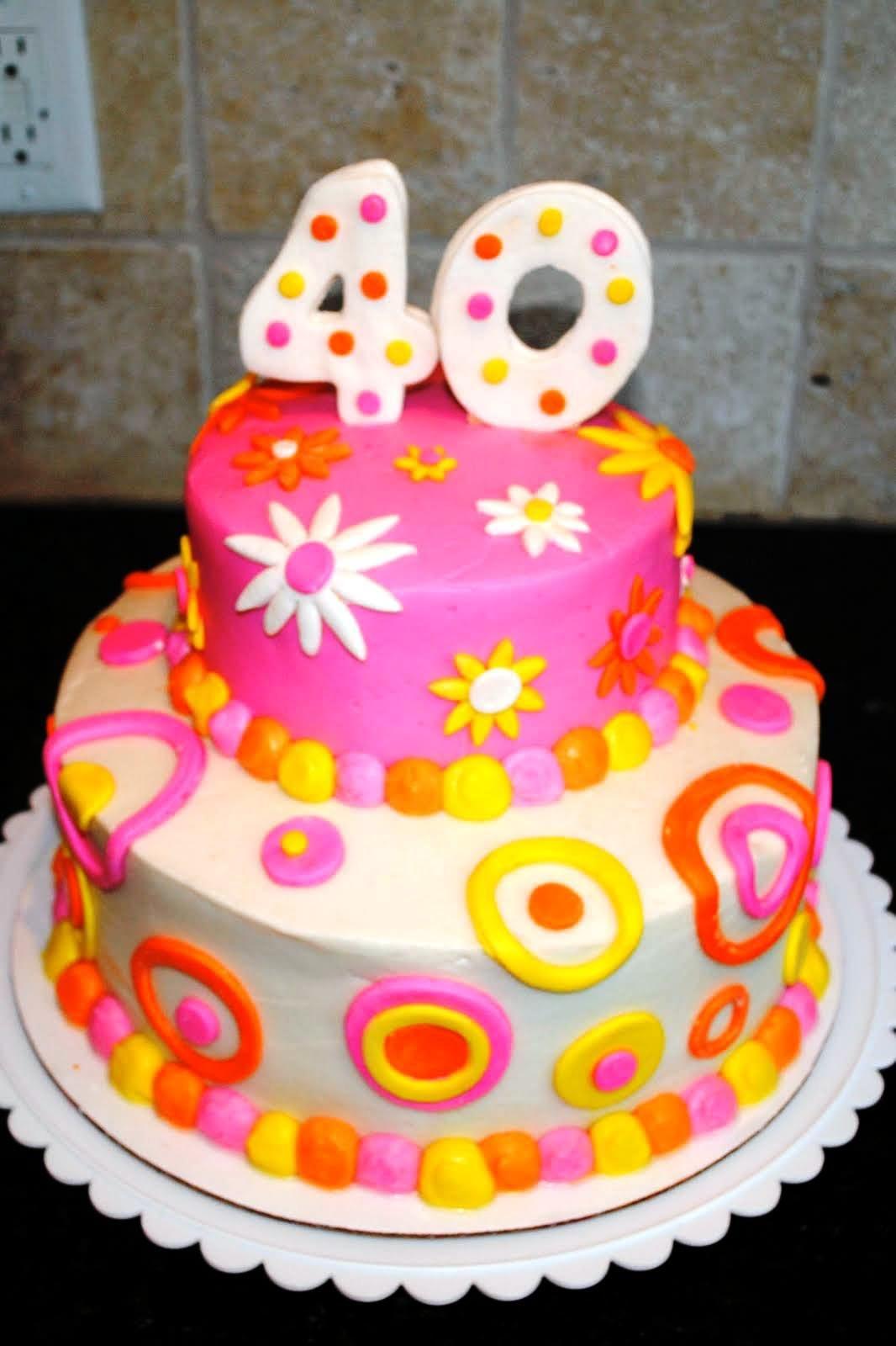 40th Birthday Cake Ideas For Women Facebook Twitter