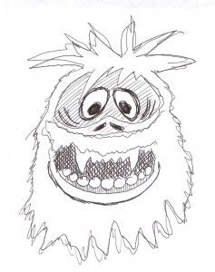 ten best christmas monsters the abominable snowman - Abominable Snowman Coloring Pages