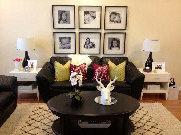 Black U0026 White Living Room From DIY User