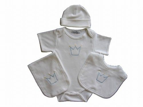 All Diaper Cakes - Prince Layette Set, $60.00 (http://alldiapercakes.com/prince-layette-set/)