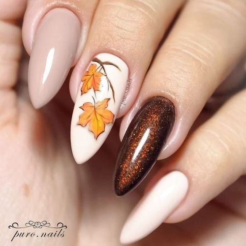 61 Best Fall Nail Designs To Make You Charming 2020 Fall Nail Colors Fall Nail Designs