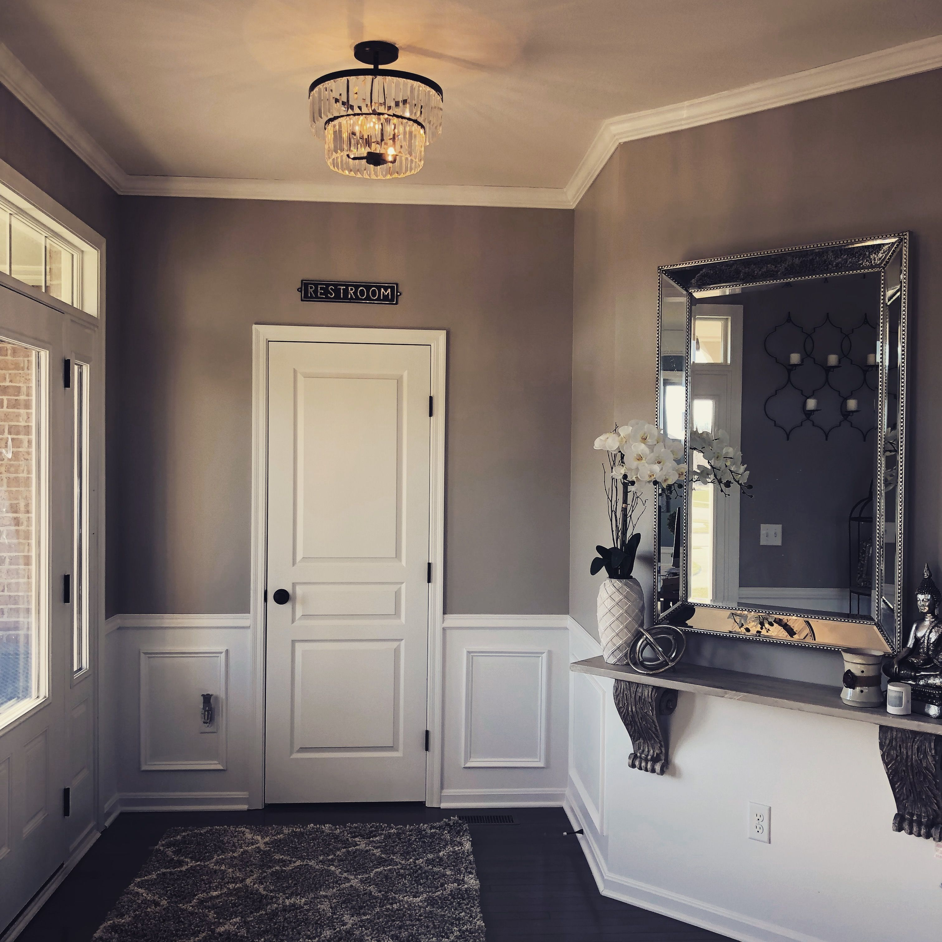 Chandelier From Lowes Paint Is Anew Grey Sherwin