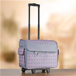 Everything Mary Rolling Storage Tote   Pink/Grey Geo #makers #storage  #everythingmary