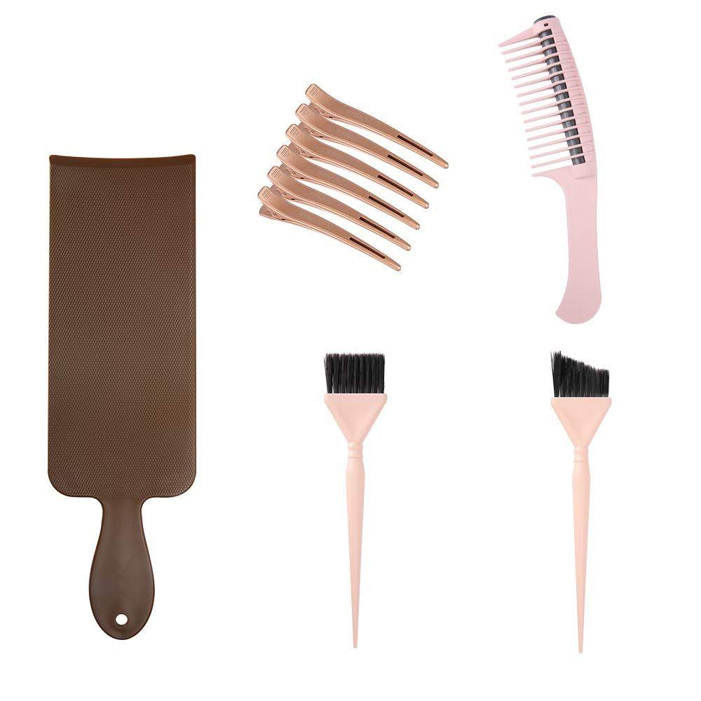 Hair Dye Set 2pcs Hair Dye Brush Dyeing Paddle Detangling Roller Comb 6pcs Hair Clips Click Image To Review More Detail In 2020 Hair Dye Brush Detangler Hair Color