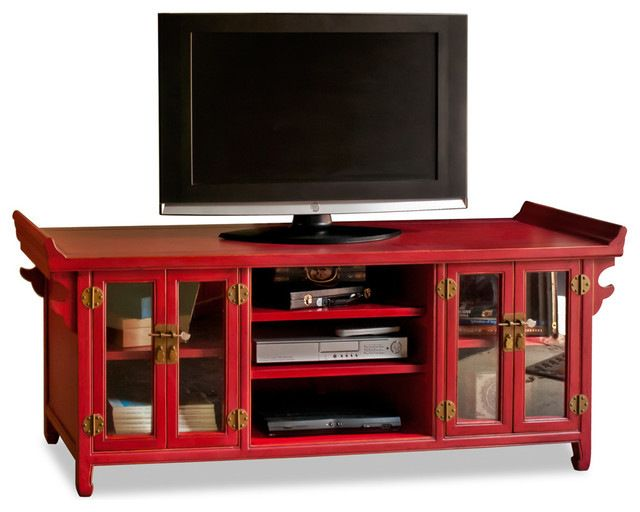 Elmwood Altar Style Media Cabinet Asian Entertainment Centers And Tv Stands