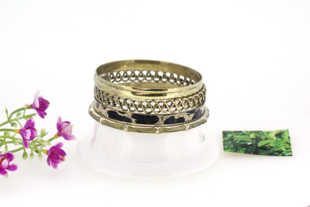 Ladies Stylish Leopard Bamboo Joint Design Multilayer Bracelets