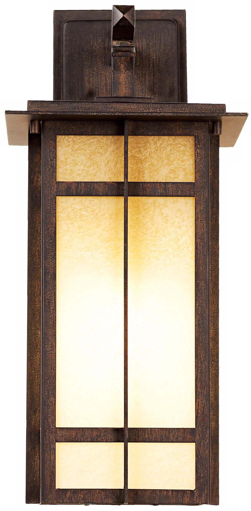 This Iron Oxide Outdoor Light Comes With A Flicker Free Electronic Ballast.  Style # At Lamps Plus.