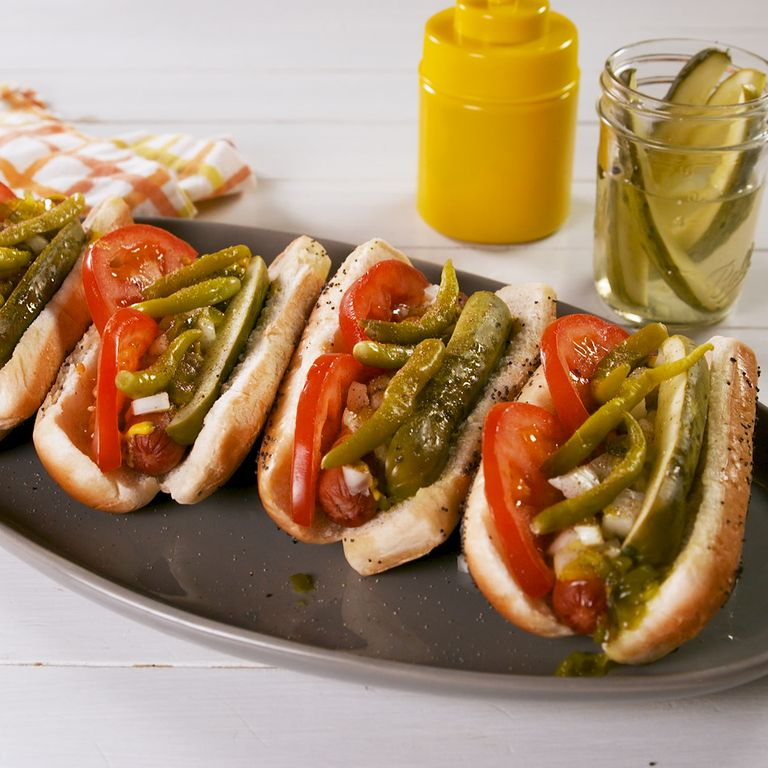 ChicagoStyle Hot Dogs Recipe Chicago style hot dog