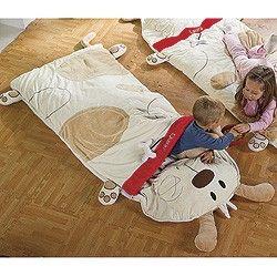 Kids' Sleeping Bag; Dog Character Sleeping Bag with Pillow ...