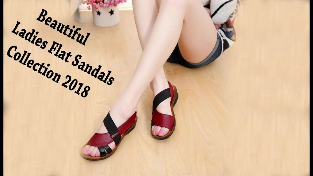 b7b17573d18c NEW Beautiful Ladies Flat Sandals Collection 2018