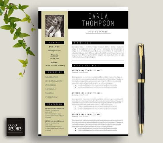 Resume Cv Template Cover Letter For Ms Word Instant Digital Download 3 Page Resume Template Idee Cv Cv Infirmier Modele Cv
