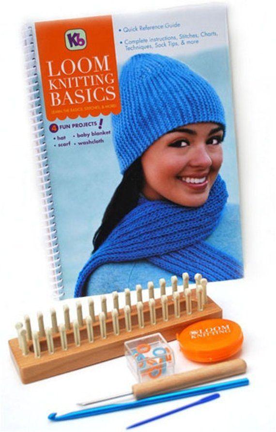 a039113d43c BEGINNNERS LOOM KIT   32 Peg Long Loom   Hat - Blanket - Scarf Patterns    Instruction Book  Ea