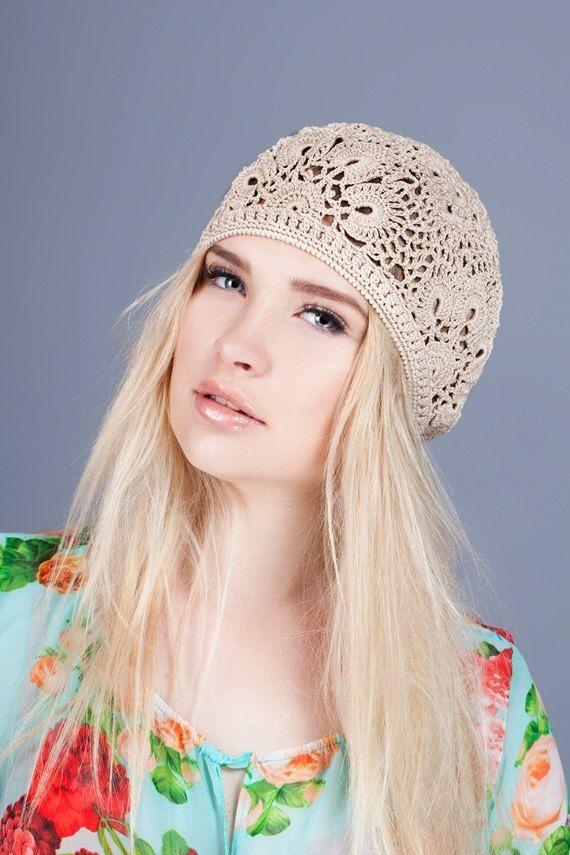 313f653bce6 Crochet summer women s hat beret